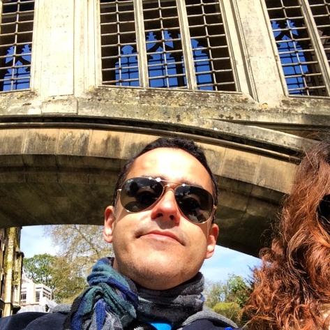 Selfie en el Puente de los Suspiros desde el río.