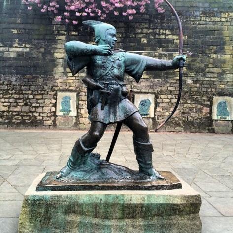 La ciudad ha sabido aprovechar la leyenda de Robin Hood como reclamo turístico.