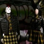 Dos diseños de inspiración punk
