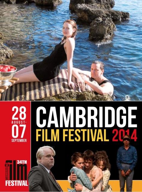 Cartel de la 34 edición del Cambridge Film Festival.