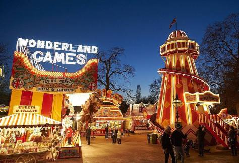 Ambiente de feria en Winter Wonderland