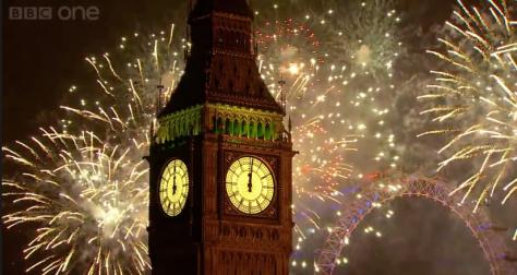 Retransmisión de la Nochevieja 2013 en la BBC.