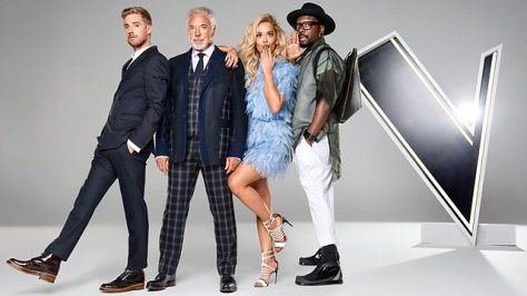 Los coaches de The Voice UK 2015  listos para empezar.