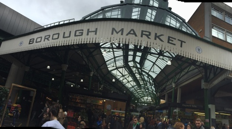 Una de las entradas a Borough Market.